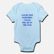 assume that everything I teach exam, quote, gramma