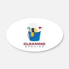 Cleaning Service Oval Car Magnet