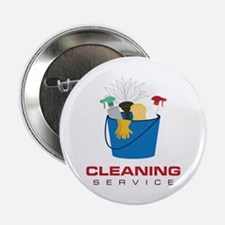 "Cleaning Service 2.25"" Button"