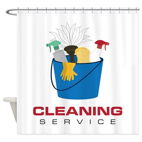 Cleaning Service Shower Curtain by CONCORD23