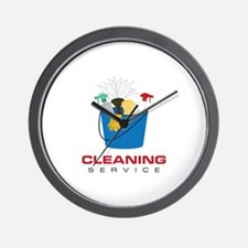 Cleaning Service Wall Clock