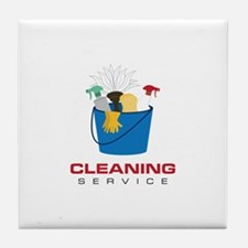 Cleaning Service Tile Coaster