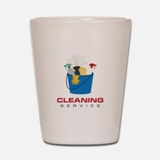 Cleaning Service Shot Glass