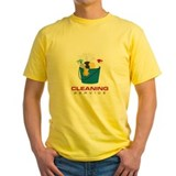 House cleaning Mens Yellow T-shirts