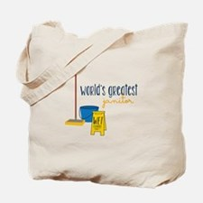 World's greatest janitor Tote Bag