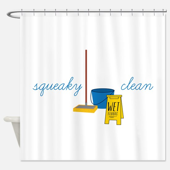 Squeaky clean Shower Curtain