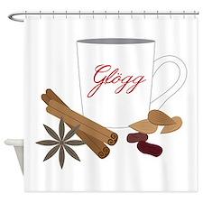 Winter Glogg Shower Curtain