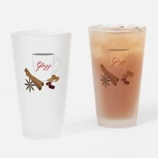 Winter Glogg Drinking Glass