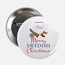 "Merry Swedish Christmas 2.25"" Button"