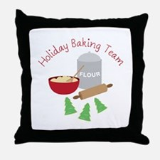 Holiday Baking Team Throw Pillow
