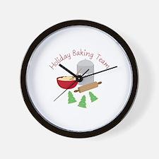 Holiday Baking Team Wall Clock