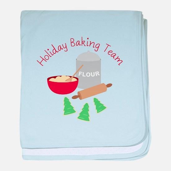 Holiday Baking Team baby blanket
