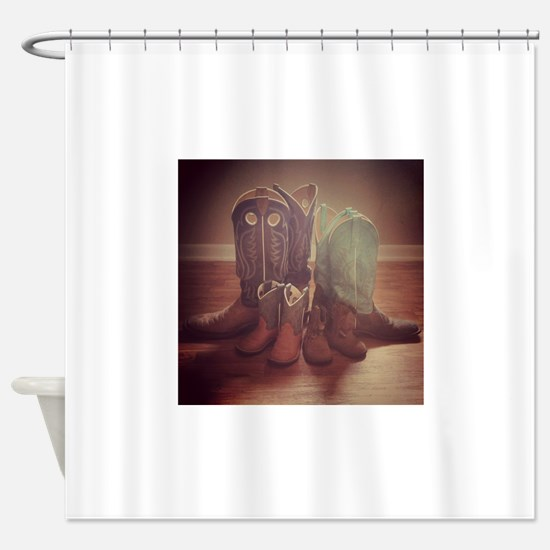 BOOTS FAMILY Shower Curtain