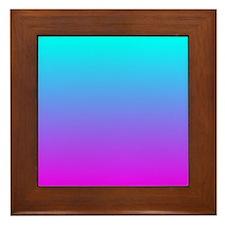 Unique Magenta Framed Tile