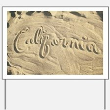 CALIFORNIA SAND Yard Sign