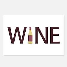 Wine Bottle Postcards (Package of 8)