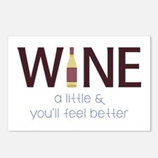 Wine a Little Postcards (Package of 8)