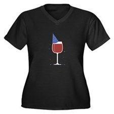 Party Hat Wine Plus Size T-Shirt