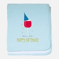 Happy Birthday baby blanket