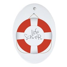 Life Saver Ornament (Oval)