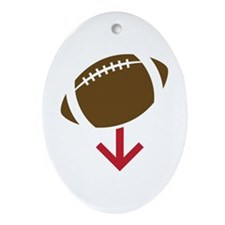 Football Ornament (Oval)