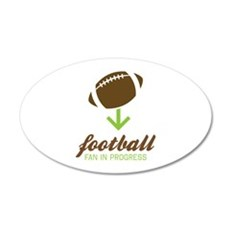 Football Fan In Progress Wall Decal