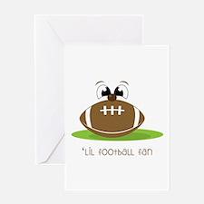 Lil Football Fan Greeting Cards