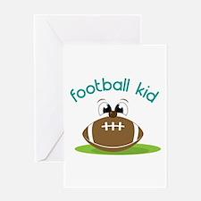 Football Kid Greeting Cards