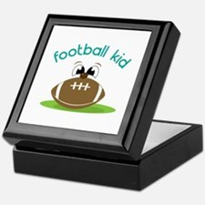 Football Kid Keepsake Box