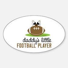 Daddy's Little Football Player Decal