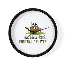 Daddy's Little Football Player Wall Clock