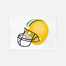 Football Helmet 5'x7'Area Rug