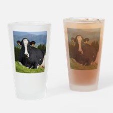 Holstein cow Drinking Glass
