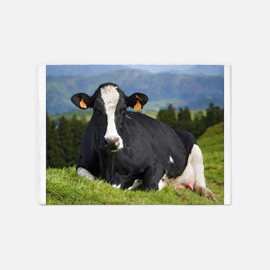 Holstein cow 5'x7'Area Rug