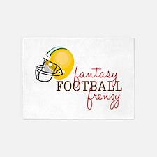 Fantasy Football Frenzy 5'x7'Area Rug