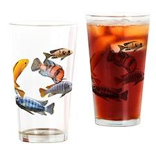 Cichlids Drinking Glass