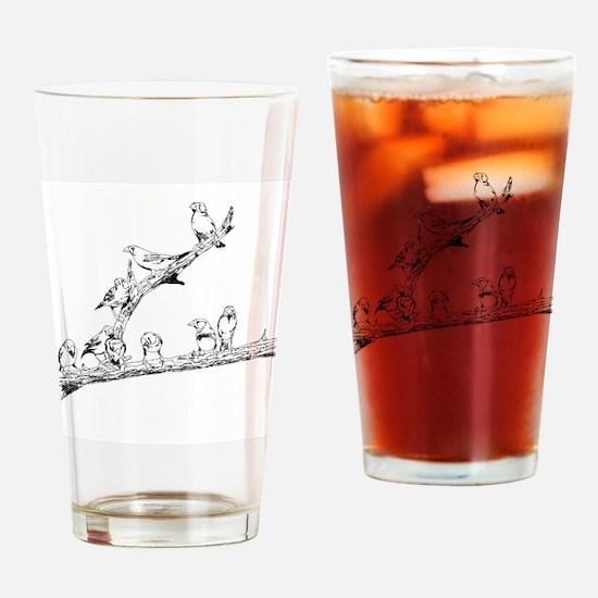 Unique Finch Drinking Glass