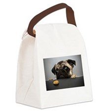 Funny Puppy Canvas Lunch Bag