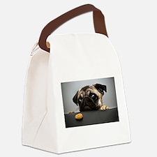 Unique Pug Canvas Lunch Bag