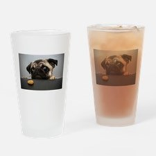 Cute Puppy Drinking Glass