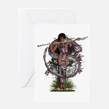 Eastern Goddess ~ Silver Dragon Greeting Cards