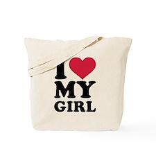 I love heart my girl Tote Bag