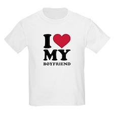 I love heart my boyfriend T-Shirt