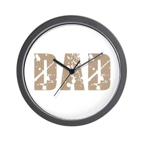 Grunge Hip Dad Father's Day Wall Clock