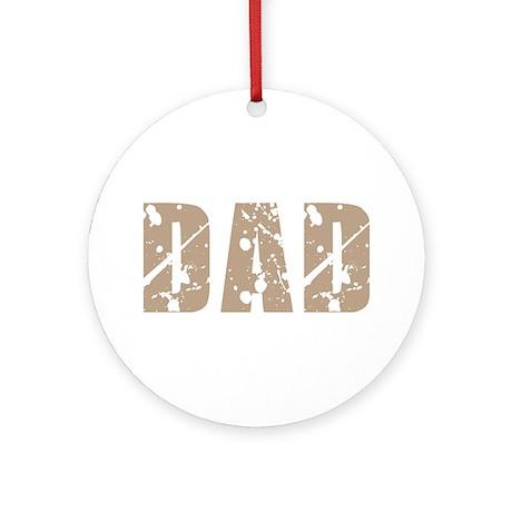 Grunge Hip Dad Father's Day Ornament (Round)