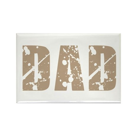 Grunge Hip Dad Father's Day Rectangle Magnet (100