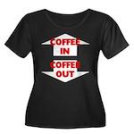 Coffee I Women's Plus Size Scoop Neck Dark T-Shirt