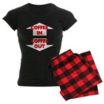 Coffee In Coffee Out Women's Dark Pajamas