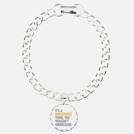 Its A Biostatistics Thin Bracelet