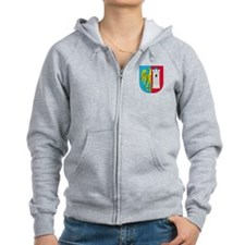 Shield With Eagle Zip Hoodie